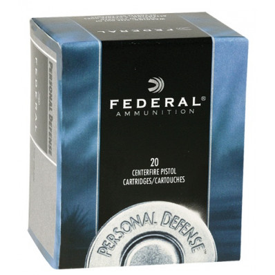 Federal Personal Defense Centerfire Handgun Ammunition 9mm Luger 115 gr JHP 1180 fps 20/box