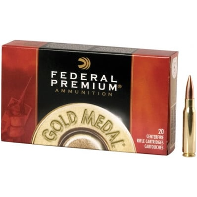 Federal Premium Gold Medal Centerfire Rifle Ammunition .338 Lapua Mag 300 gr BTHP 2580 fps - 20/box