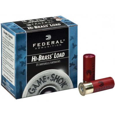 "Federal Game-Shok Hi-Brass Load 16 ga 2 3/4"" 3 1/4 dr 1 1/8 oz #4,6,7,5 1295 fps - 25/box"