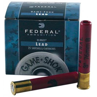 "Federal Game-Shok Upland Game - Hi Brass Load - .410ga 3"" 11/16oz. #4-Shot 25/Box"