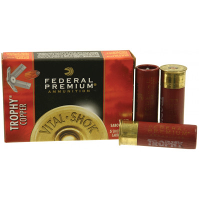 "Federal Premium Vital-Shok Trophy Copper Sabot Slug 12 ga 2 3/4""  300 gr Slug 1900 fps - 5/box"