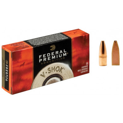 Federal Premium V-Shok Centerfire Rifle Ammunition .222 Rem 43 gr TNT HP 3400 fps - 20/box