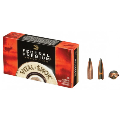Federal Premium Vital-Shok Centerfire Rifle Ammunition .243 Win 100 gr BT 2850 fps - 20/box