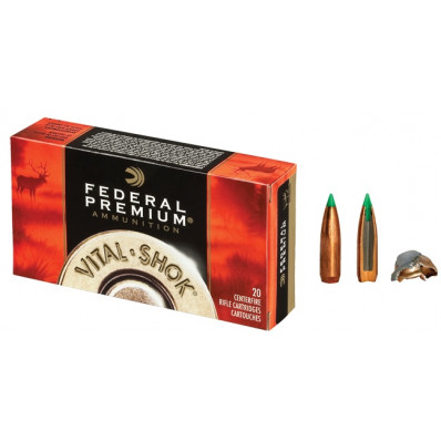 Federal Premium Vital-Shok Centerfire Rifle Ammunition .25-06 Rem 100 gr BT 3220 fps - 20/box