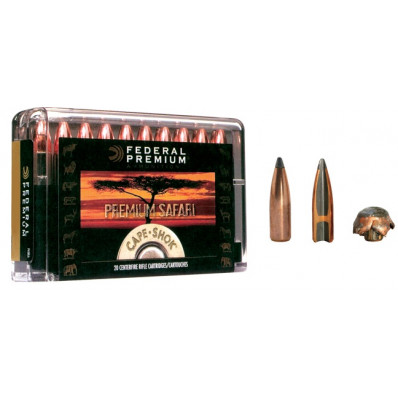Federal Premium Cape-Shok Centerfire Rifle Ammunition .375 H&H 300 gr PT 2440 fps - 20/box
