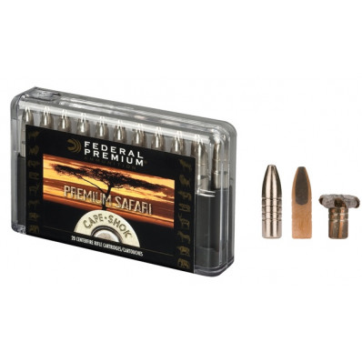 Federal Premium Cape-Shok Centerfire Rifle Ammunition .458 Win Mag 400 gr TBBC 2250 fps - 20/box