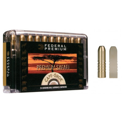 Federal Premium Cape-Shok Centerfire Rifle Ammunition .470 Nitro 500 gr BS 2150 fps - 20/box