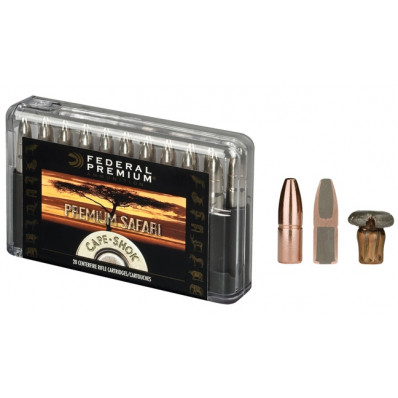 Federal Premium Cape-Shok Centerfire Rifle Ammunition 9.3x62mm 286 gr SAF 2360 fps - 20/box