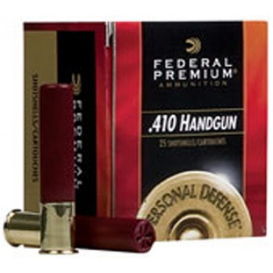"Federal Premium Personal Defense 410 Handgun Shotshell Ammunition - Judge .410 ga 2 1/2""  7/16 oz #4B 950 fps - 20/box"