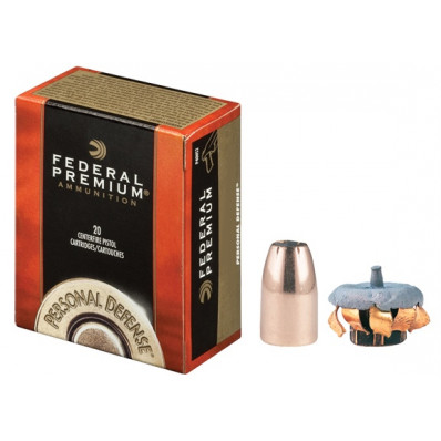 Federal Premuim Personal Defense Centerfire Handgun Ammunition 9mm Luger 135 gr JHP 1060 fps 20/box