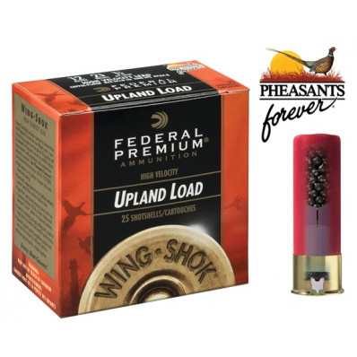 "Federal Premium Wing-Shok Pheasants Forever High-Velocity 12 ga 2 3/4"" MAX 1 1/4 oz #4 1500 fps - 25/box"