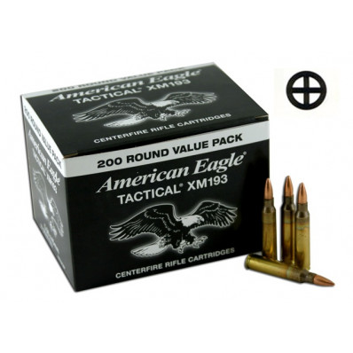 Federal American Eagle NATO Tactical Rifle Ammunition .223 Rem 55 gr FMJ  200/Box