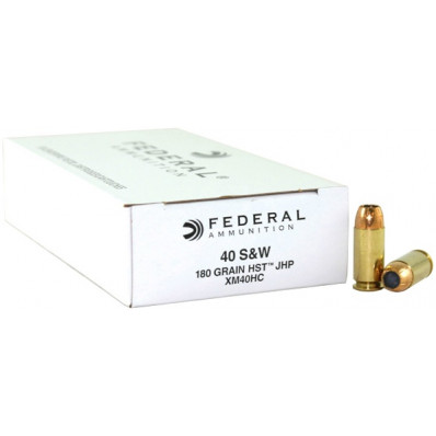 Federal Premium Tactical .40 S&W 180gr HST Hollow Point 50/Box