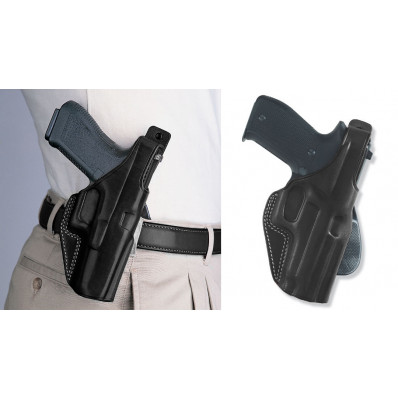 Galco Sig Sauer P220, P226 PLE Unlined Paddle Holster Right Hand Black