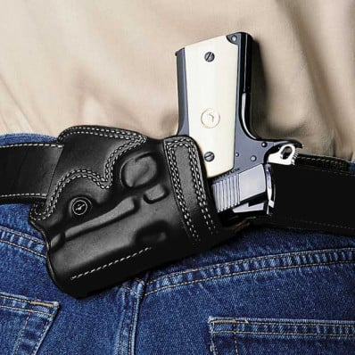 """Galco Colt Detective Special 2"""" Small Of Back Belt Holster Right Hand Black"""