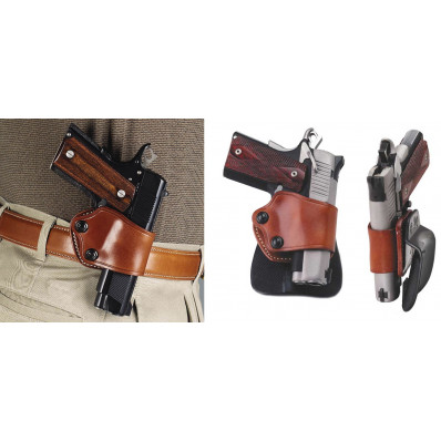 Galco 1911 Style Yaqui Paddle Holster Left Hand Tan