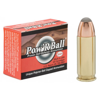 Glaser Pow'RBall Centerfire Handgun Ammunition  .38 Super 100 gr JHP 1525 fps 20/box