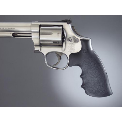 Hogue S&W K/L Convertion Kit - Round to Square Butt - Rubber Monogrip