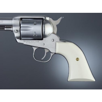 Hogue Grips Ruger Blackhawk/Vaquero Ivory Polymer Cowboy Panels