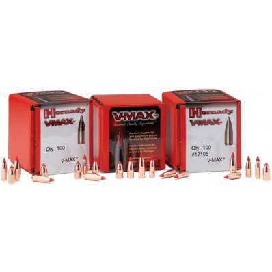 "Hornady VMAX Bullets 6mm .243"" 75 gr VMAXBT 100/ct"