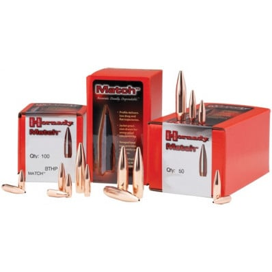 "Hornady Match Bullets .22 cal .244"" 60 gr HP 100/ct"