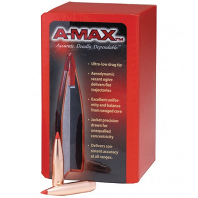"Hornady A-MAX Rifle Bullets 6.5mm .264"" 120 gr A-MAX 100/ct"