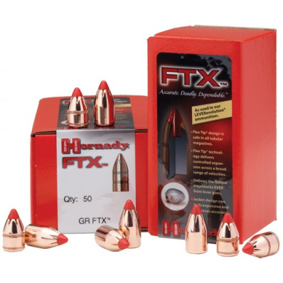 "Hornady FTX Rifle Bullets .45 cal .458"" 325 gr FTX 50/ct"