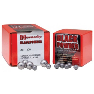 "Hornady Lead Round Ball .36 cal .375"" 100/ct"