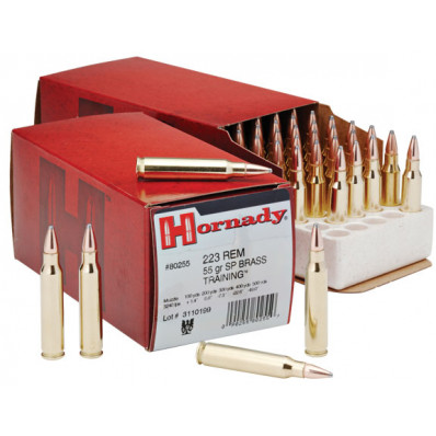 Hornady Custom Centerfire Rifle Ammunition .223 Rem 55 gr SP 3240 fps - 50/box