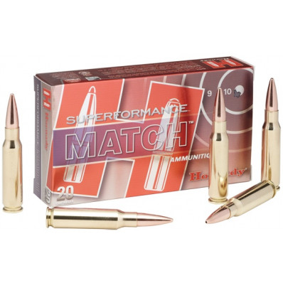 Hornady Superformance Centerfire Rifle Ammunition .223 Rem 75 gr BTHP 2930 fps - 20/box