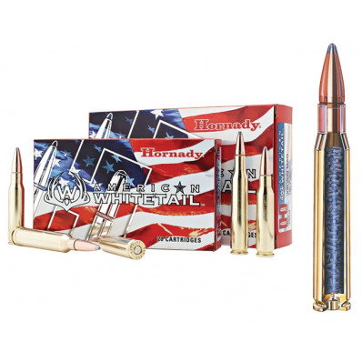 Hornady American Whitetail Rifle Ammunition .300 Win 150 gr SP 2979 fps - 20/box