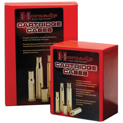 Hornady Unprimed Brass Rifle Cartridge Cases - .300 Savage 50/box