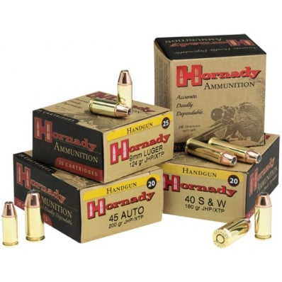 Hornady Custom Centerfire Handgun Ammunition 9mm Luger 124 gr XTP 1110 fps 25/box