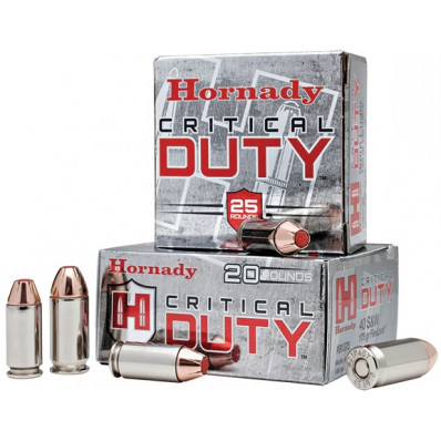 Hornady Critical Duty Handgun Ammo .45 ACP 220 gr Flex Tip 975 fps 20/box