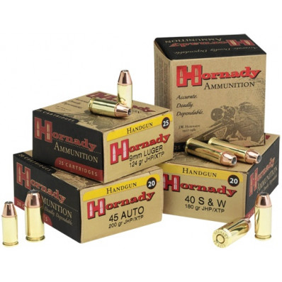 Hornady Custom Centerfire Handgun Ammunition 200 gr HP/XTP 900 fps 20/Box