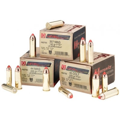 Hornady LEVERevolution Centerfire Handgun Ammunition .44 Mag 225 gr FTX 1410 fps 20/box