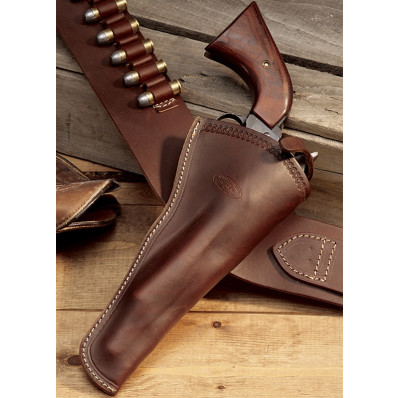 "Hunter Leather Single Action Revolvers 4"" - 5.5"" Slim Jim Holster, Right Hand"