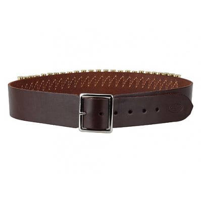 "Hunter Leather Specialty Belts, .38 Caliber, 40"" - 45"" Large, Antique Brown"