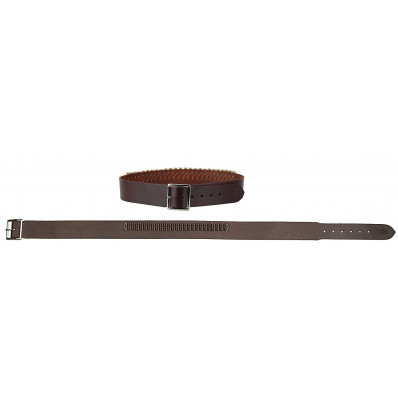 "Hunter Leather Cartridge Belt, .45 Caliber, 40"" - 45"" Large, Antique Brown"