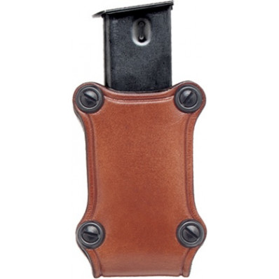 Hunter Leather Single Magazine Pouch Open Top - Staggered Magazine