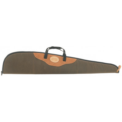 "Hunter Carbine Gun Case 16"" - 20"" Barrel Brown Canvas with Suede"