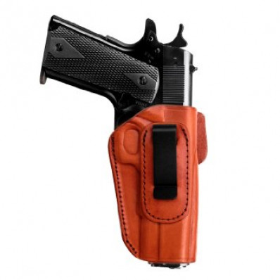 Tagua 4 in 1 Inside the Pants Holster without Thumb Break S&W M&P Shield 9mm Brown Right Hand
