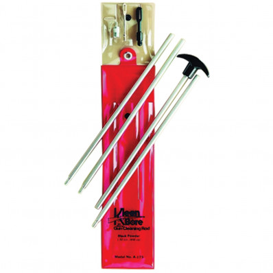 KleenBore Deluxe One-Piece Stainless Steel Cleaning Rod - Blackpowder