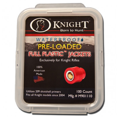 Knight Pre-Loaded Full Plastic Jacket - 100/Pack
