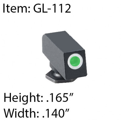 Ameriglo Front Tritium Night Sight For All Glock Pistols
