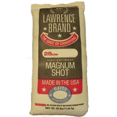 Lawrence Lead Magnum Shot 25 lbs #8