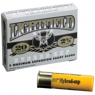 "Lightfield Hybred EXP Sabot Slug 20 ga 2 3/4""  7/8 oz Slug 1923 fps - 5/box"