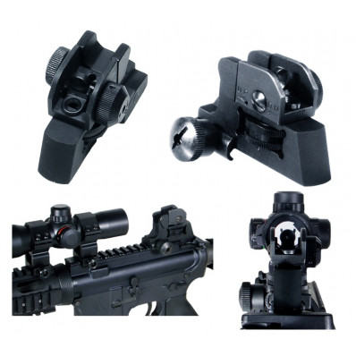 Leapers UTG Detachable Compact Rear Sight w/Full W/E Adjustment