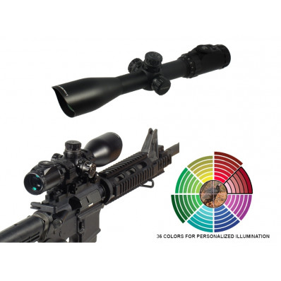 "Leapers AccuShot SWAT Compact IE Rifle Scope - 3-12x44mm AO Illum. Mil-Dot 34-8.4' 3.3-2.8"" Matte"