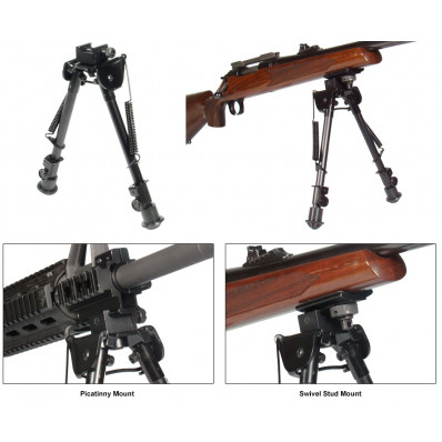 Leaper's Tactical Op Bipod Tactical/Sniper Profile Adjustable Height - 8-12.5""